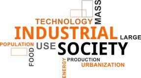 Nuage de Word - société industrielle Photo libre de droits