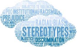 Nuage de Word de stéréotypes illustration de vecteur