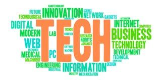 Nuage de Word de technologie Image stock