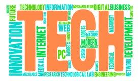 Nuage de Word de technologie Photo stock