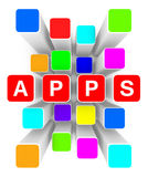 Nuage des apps illustration de vecteur