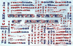 Nuage des Etats-Unis Photo stock