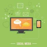 Nuage des icônes d'application. Media social Photos libres de droits