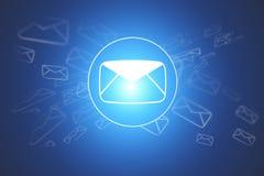 Nuage des icônes de message d'isolement sur un fond - conce d'Internet illustration de vecteur