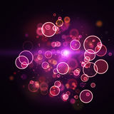 Nuage des lumières magenta brillantes de cercle Photo libre de droits