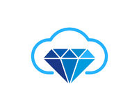 Nuage Diamond Icon Logo Design Element Image libre de droits