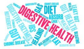 Nuage digestif de Word de santé Photos stock