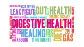 Nuage digestif de Word de santé illustration de vecteur