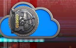 nuage du nuage 3d illustration de vecteur