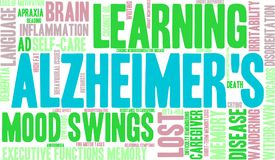 Nuage du ` s Word d'Alzheimer Photographie stock libre de droits