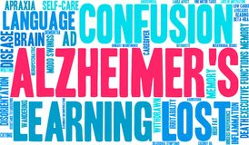 Nuage du ` s Word d'Alzheimer Image stock
