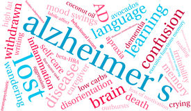 Nuage du ` s Word d'Alzheimer Illustration de Vecteur