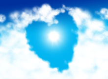 Nuage en forme de coeur Photo stock