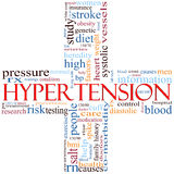 Nuage en travers de mot d'hypertension Photo stock