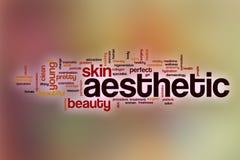 Nuage esthétique de mot avec le fond abstrait illustration de vecteur