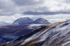 Nuage et lac en hiver Photos libres de droits