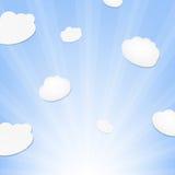 Nuage et rayon de soleil Images libres de droits