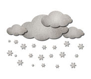 Nuage et temps de neige Photo stock