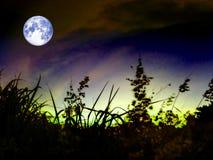 nuage foncé de tas superbe de lune dans le ciel nocturne Photographie stock libre de droits