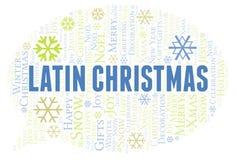 Nuage latin de mot de Noël illustration libre de droits