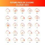 Nuage orange SEO Icon Set de Futuro 25 illustration de vecteur