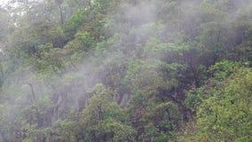 Nuage pluvieux sur la colline banque de vidéos