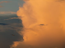 Nuage rouge Photographie stock