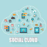 Nuage social Images stock