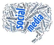Nuage social de mot de medias Images libres de droits