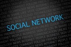 Nuage social de Word de réseau Photos libres de droits