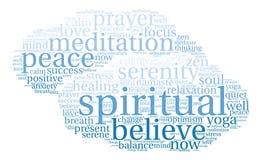 Nuage spirituel de Word Images stock