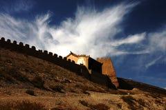 nuage sur le passage de Jiayu Photographie stock libre de droits