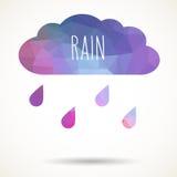 Nuage triangulaire avec la pluie Photo stock