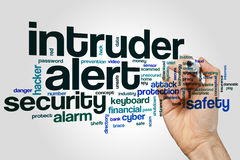 Nuage vigilant de mot d'intrus Image libre de droits