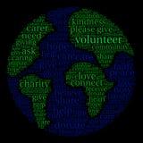 Nuage volontaire de Word Image libre de droits