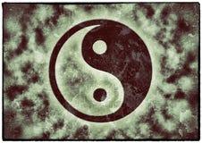 Nuage ying de yang de vintage illustration stock