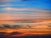 Nuages au coucher du soleil Photographie stock