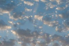 Nuages au coucher du soleil Photos libres de droits