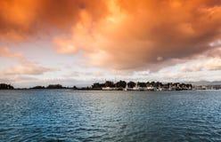 Nuages au-dessus d'île de Woodley Images libres de droits