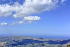 Nuages au-dessus de Crète Image stock