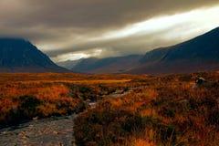 Nuages au-dessus de Glencoe Images stock