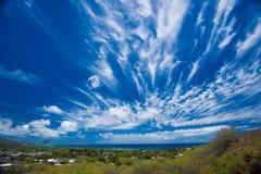 Nuages au-dessus de kahala Photos stock