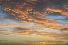 Nuages au-dessus de l'Océan Atlantique images libres de droits