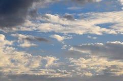 Nuages au-dessus de l'Océan Atlantique photo stock