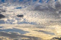 Nuages au-dessus de l'Océan Atlantique photographie stock