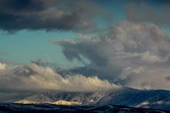 Nuages au-dessus de la colline Nature de Kazakhstan photographie stock