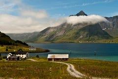 Nuages au-dessus de Lofoten Photographie stock