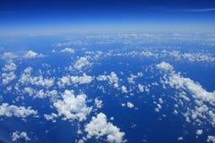 Nuages au-dessus de mer Image libre de droits