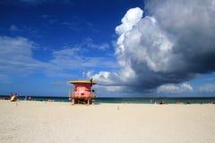 Nuages au-dessus de Miami Beach Images libres de droits