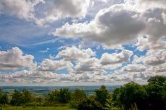 Nuages au-dessus de Worcestershire Photos libres de droits